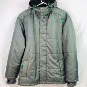 Fox Sz XXL Men's Winter Coat Hoodies Green Fleece